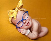 Newborn - One Year {COBALT BLUE} Rimmed Prop Glasses- Photography Prop only