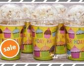 Cupcake Birthday Party Cups-Popcorn Box-Set of 15