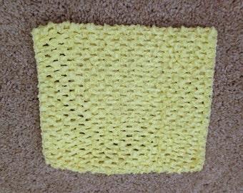New yellow 6 inch crochet headband