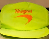 reserved Vintage Neon Green Newport Cigaretts Snapback Nylon Hat