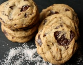 Salted Chocolate Chunk Cookies, chocolate chip cookies, homemade baked goods