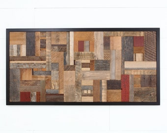 Wood wall art made of old reclaimed barnwood, Different Sizes Available. Large wall art, wood wall sculpture