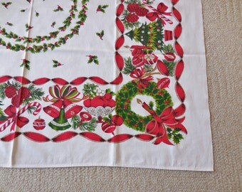 Vintage Christmas Tablecloth This One Has It ALL