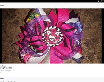 Monster High Handmade Hair Bow