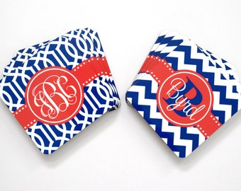 monogram coaster • housewarming or wedding gift  ideas : design your own