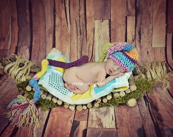 Amazing Elf Newborn Baby Colorful Knitted Hat