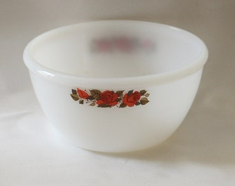 Retro Red Roses Phoenix Ware Mixing Bowl 60's Vintage