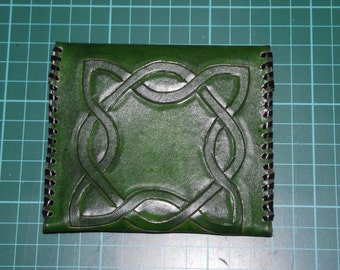 Leather Tampon Case Green