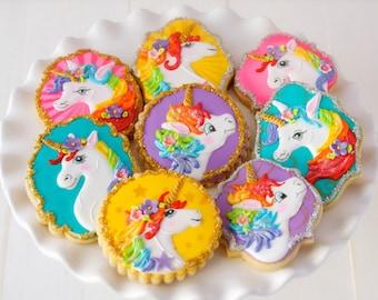 8 Vegan Unicorn Themed Sugar Cookies
