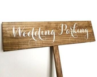 Wooden Arrow Signs for Wedding | Wooden Wedding Parking Sign | Wedding Parking Sign | Parking Wedding Sign | Wood Parking Sign - WS-165