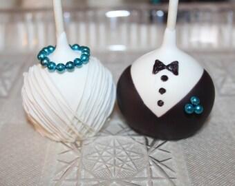 Elegant Wedding Cake Pops (Bride & Groom Pops)