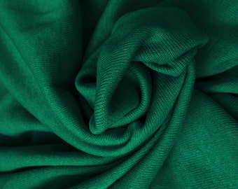 Cotton Knit Fabric 1x1 Tubular Rib by the Yard -  Jade