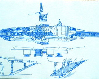 Star Wars Millennium Falcon #1 Blueprint