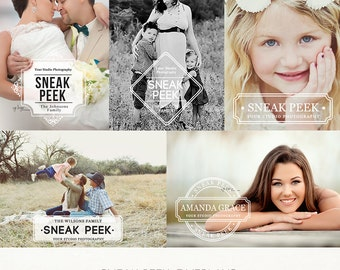 Sneak Peek Photo Overlays - Photographer Marketing - PSD - ID234 Instant Download