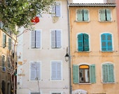 Provence shuttered windows scene, south of France colorful photo, fine art france photography, travel photo, wall decor