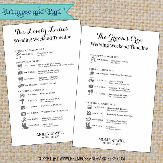 Il570xn7518461951ci2g wedding itinerary for bridal party printable by primroseandpark pronofoot35fo Choice Image