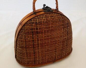 Vintage Rattan Purse