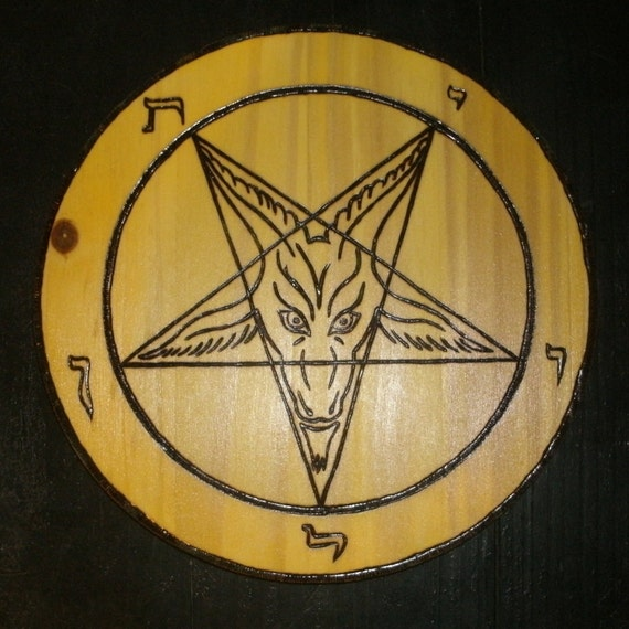 Is There Anything The Devil Can T Rock Lucifer: Church Of Satan Sigil Of Baphomet Plaque By TheBurningWitch