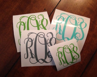 Vine Monogram decal // FREE Shipping