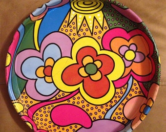 Funky Vintage 60s Serving Tray