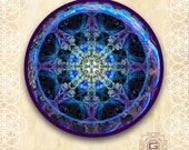 Order / Sticker Transparent 12-18cm / Laptop Sticker / Window Sticker / Wall Sticker / Sacred Geometry / Fractal Mandala / merkaba /