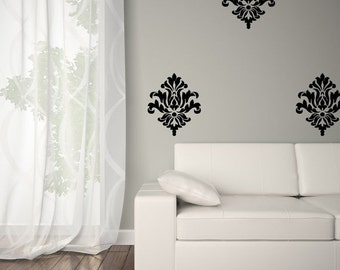 Wall Decal - Vinyl Wall Decal - Damask Wall Decal 0038