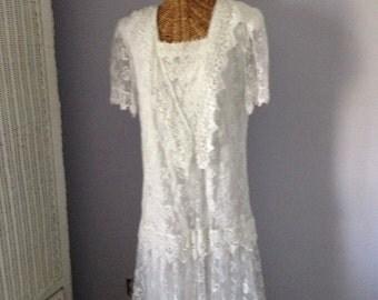 Vintage Scott McClintock All Lace Wedding /Bridal Dress,/Boho Wedding/Meadow Wedding/Formal Dress,Victorian