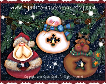 CC123 - Twinkle Thyme LED Tea Light Ornaments - Painting E Pattern by Cyndi Combs