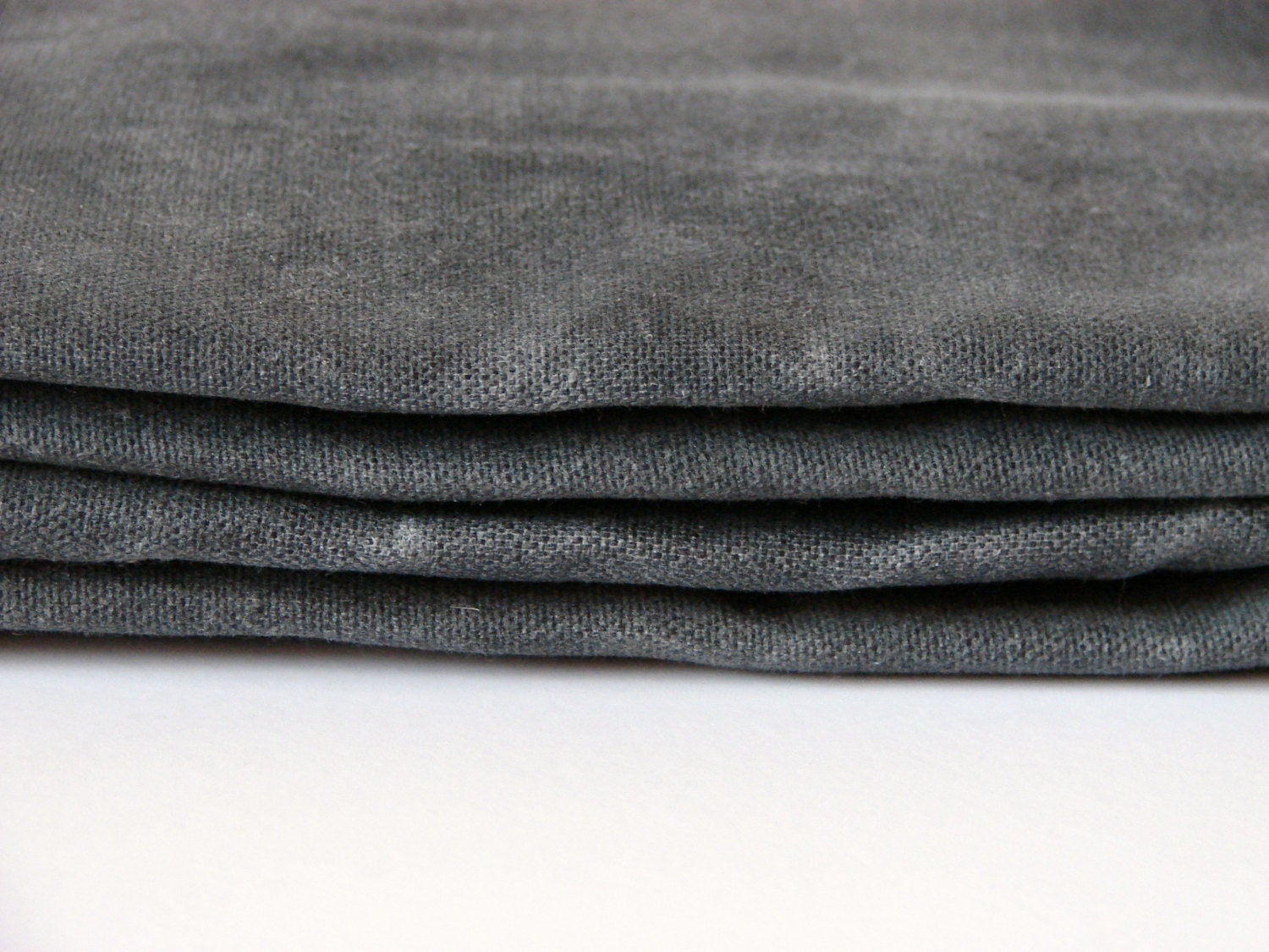 1 2 yard waxed cotton canvas fabric graphite by for Cloth fabric