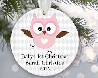 Babys First Christmas Ornament Elephant Baby ornament