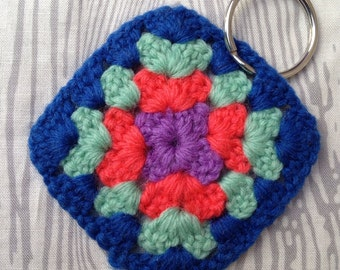 Mini Granny Square Key Chain Luggage Tag