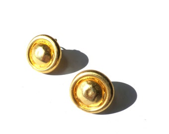 Vintage Faux Gold Earrings Petite Earrings