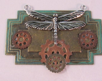 Dragonfly on lockplate Pendant