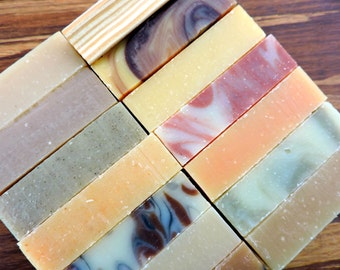 SOAPER'S DOZEN - Any 13 Bars of Yamali natural handmade soap and one free soap dish - Bulk soap, shampoo bars