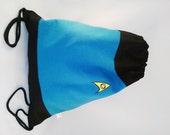 Star trek drawstring backpack/ Mr Spock inspired/ Cotton canvas