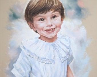 Pastel portrait, Boy portrait