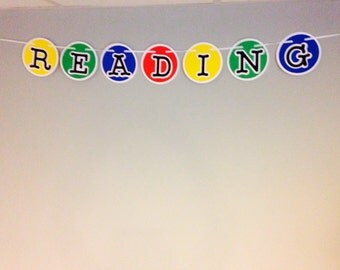 """Teacher/Classroom """"READING"""" banner"""