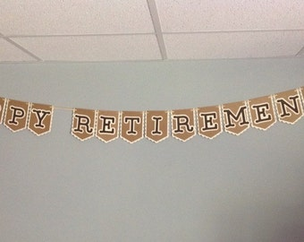 Retirement banner-Happy Retirement