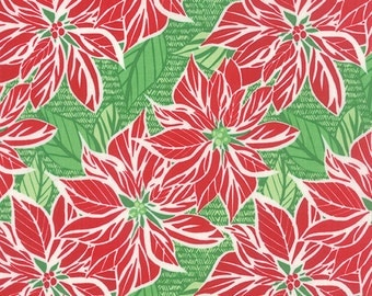 Moda Jingle Poinsettia Dark Cedar - Kate Spain - 1 yard
