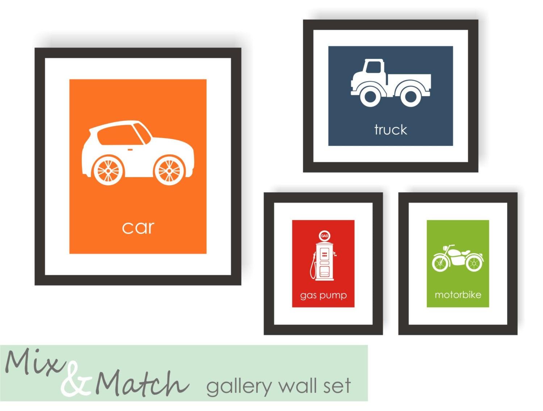 Gallery Wall Set Of 4 Prints Modern Nursery Wall Art