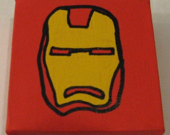 """Marvel Iron Man Canvas Picture 4""""x4"""""""