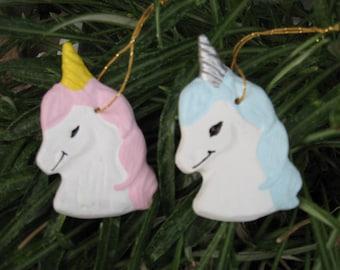 Unicorn Ornaments - Set of 2