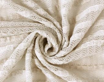 Stone Sitil Ruffle Sweater Knit Fabric by the yard - 1 Yard Style 6484
