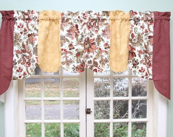 Jacobean Quilted Swag Valance