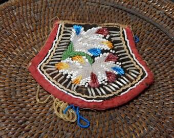 Vintage Tuscaroran handmade Pincushion or purse, 5x6