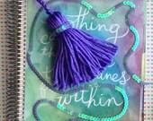 Violet Mermaid Scales Yarn Tassel