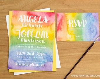 Rainbow Invitation | Etsy