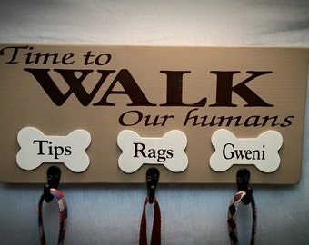 Custom Dog Leash Holder, Pet Leash Holder, Handmade Leash Holder, Dog Leash, Mothers Day Gift, Personalized Pet Leash Sign, 7x14