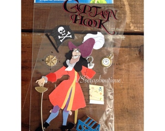 Disney Jolee's Boutique Captain Hook- ek success Dimensional  stickers