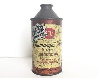 Vintage Champagne Velvet Cone Top Beer Can